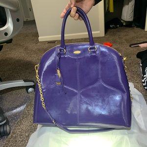 Tahari bag purple patent leather